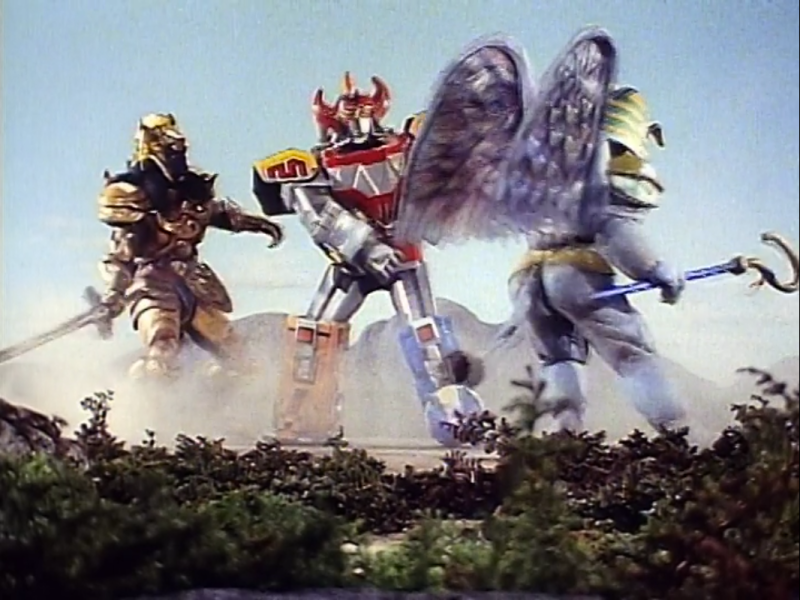 Megzord in battle