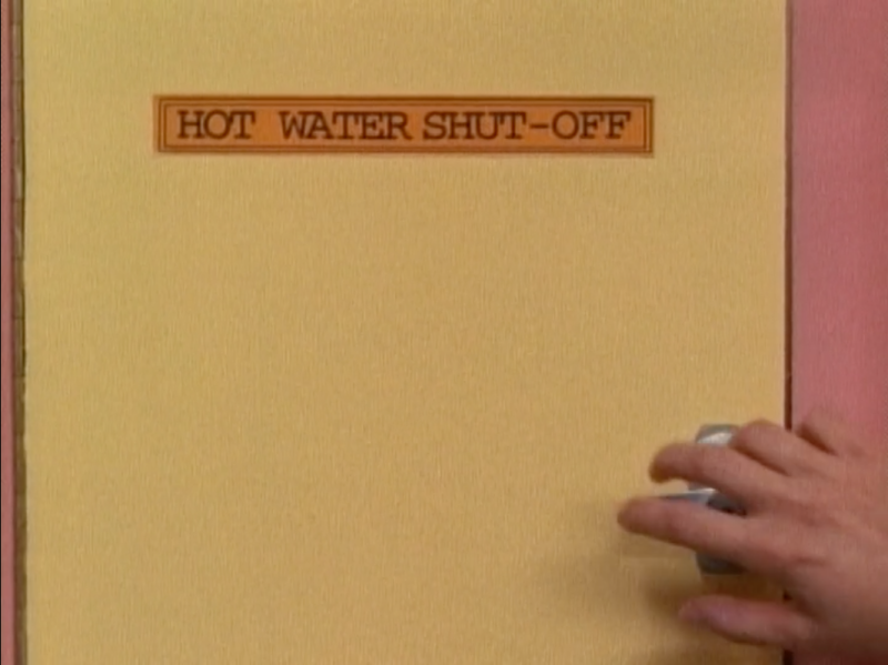 Shutting off the hot water