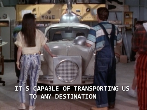 "Billy: ""It's capable of transporting us to any destination."""