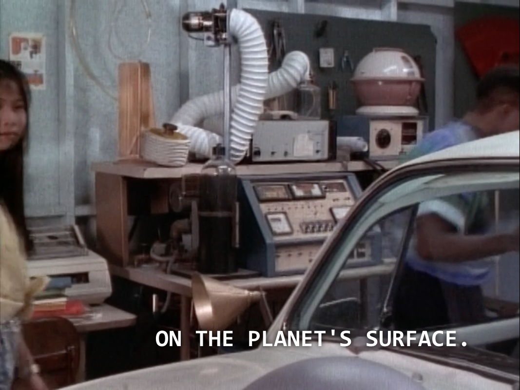 "Billy: ""On the planet's surface."""