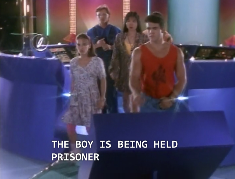 "Zordon: ""The boy is being held prisoner...."""