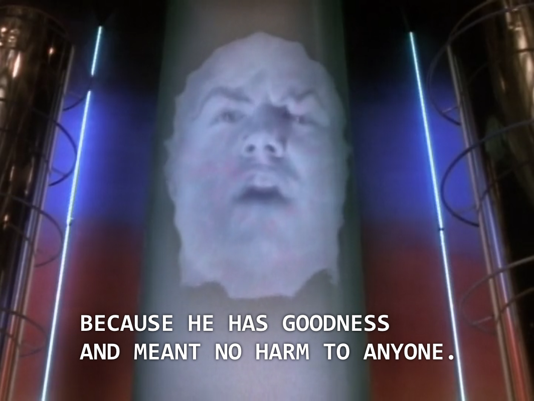 "Zordon: ""Because he has goodness and meant no harm to anyone."""