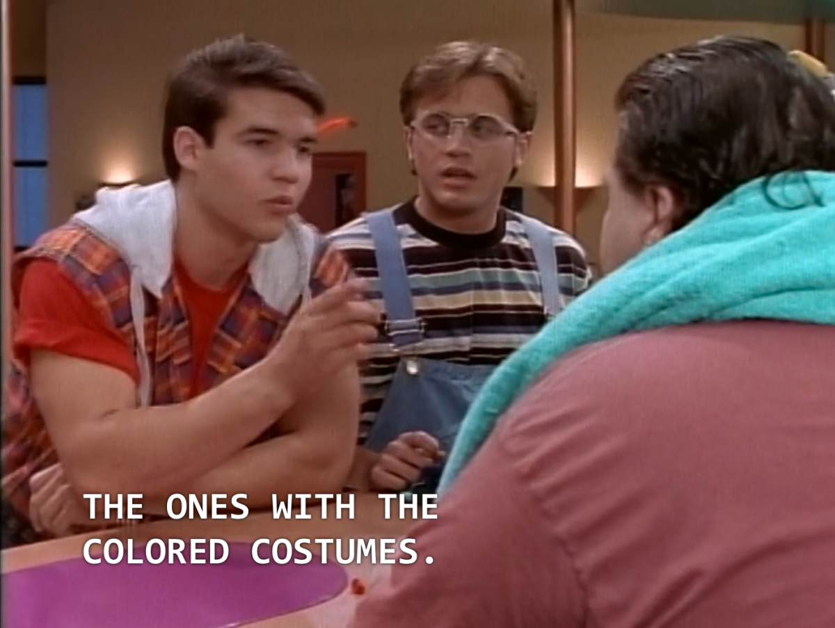 "Jason: ""The ones with the coloured costumes."""