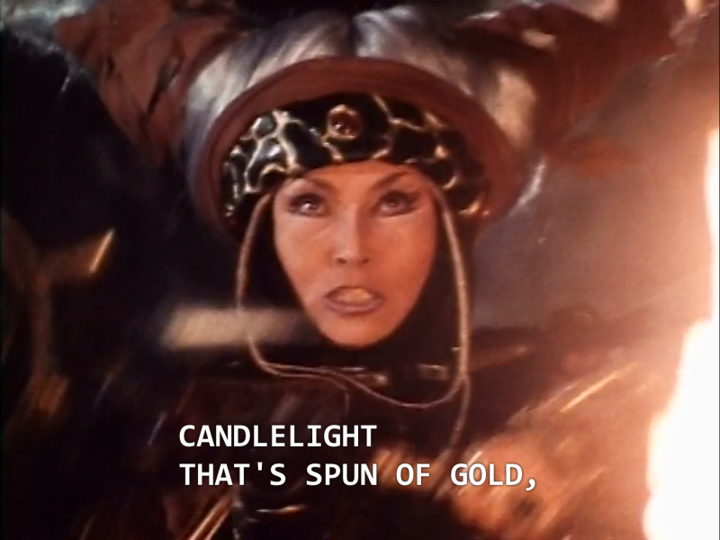 "Rita: ""Candlelight that's spun of gold."""